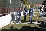 Cvičná stavba protipovodňových hrází a slavnostní předání stavby.