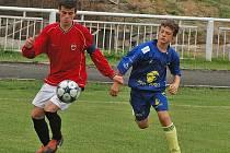 Berounští starší žáci porazili ve šlágru divize Tábor 2:0.