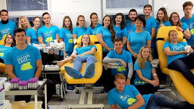 Berounští gymnazisté opět darovali krev