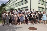 Stužkování a předání vysvědčení deváťákům Základní školy Králův Dvůr.