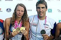 Karolína Křenková s olympijským vítězem Davidem Svobodou.