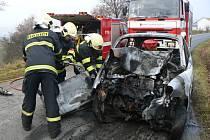 Tragická dopravní nehoda u Černína.