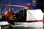Tragická dopravní nehoda u čerpací stanice na 37. kilometru dálnice D5 na Berounsku.