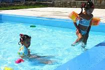 Dětské brouzdaliště  na berounském koupališti.