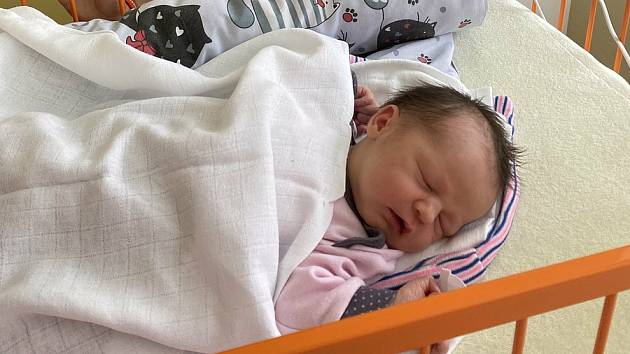 Thea Bajtalonová se narodila 4. června 2021 v mladoboleslavské nemocnici. Po porodu vážila 3150 g a měřila 48 cm. Na fotografii je s bráškou Lukáškem. S ním a rodiči Evou a Alešem Bajtalonovými bude bydlet v Mladé Boleslavi.
