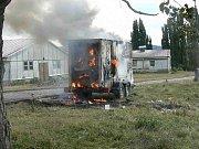 Požár dieselového agregátu na Levíně