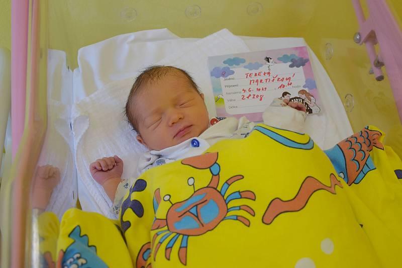 Tereza Martišková se rodičům Janě Strnadové a Michalu Martiškovi narodila v benešovské nemocnici 4. června 2021 v 10.28 hodin, vážila 2830 gramů. Bydlištěm rodiny je Trutnov.