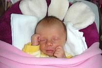 Ella Škaloudová vykoukla na svět dříve, a to 14. května, ale už teď se jí tu moc líbí. Ella vážila po narození 1,87 kg a měřila 42 cm. Rodiče Radka Janišová a Vít Škaloud si prvorozenou dcerku odvezou z porodnice do Rakovníku.