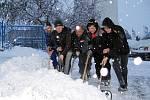 Sníh pokryl v pondělí 29. listopadu i celé Berounsko