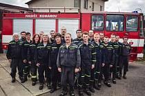 Dobrovolní hasiči z Komárova.