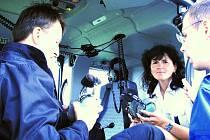 Policistům při akci pomáhal vrtulník