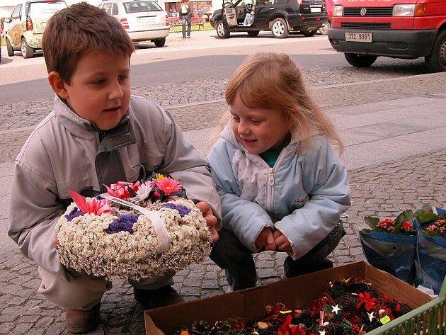 Berounské květinářství na Husově náměstí