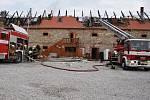 Požár ranče v Málkově