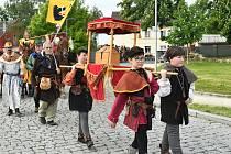 Královský průvod 'Poselstvo vévody Štěpána II. bavorského' spojený s historickým jarmarkem v Berouně.