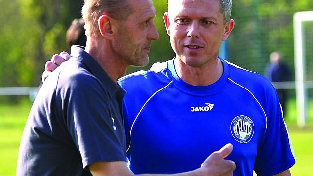 Jan Berger (vlevo) v Hořovicku skončil