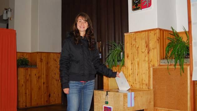 V Hořovicích volila nejmladší volička.
