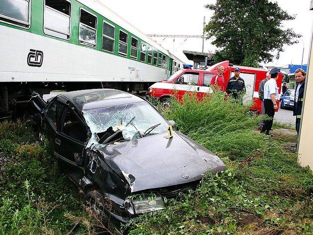Nehoda na vlakovém přejezdu.