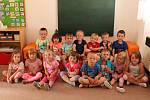 Děti v Mateřské škole v Hostomicích: třída Žluťásci.