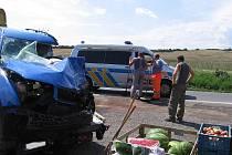 Střet mikrobusu a fabie u Libomyšle