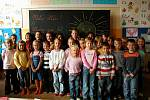Třída 1. A z Jungmannovy základní školy v Berouně.