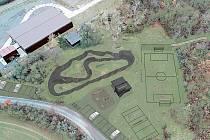 Vizualizace pumptrackové dráhy v králodvorském Levíně.
