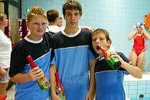 Dušan MIKO, Tomáš a David LUDVÍKOVI , kteří vybojovali v Kralupech i ocenění za nejlepší bodovaný výkon ve své věkové kategorii.