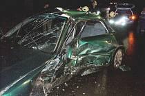 Při nehodě zemřel řidič audi