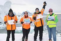 Vítězné práce jsou již na zmrzlé Antarktidě.
