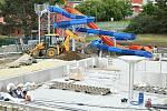 Z rekonstrukce berounského bazénu.