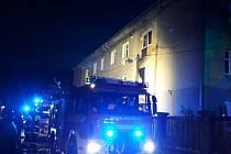 Požár bytu ve Vorlově ulici v Berouně.