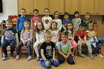 Mateřská škola v Hudlicích: předškoláci ze třídy Včeličky.