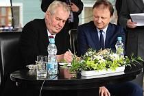 Prezident Miloš Zeman navštívil Beroun.
