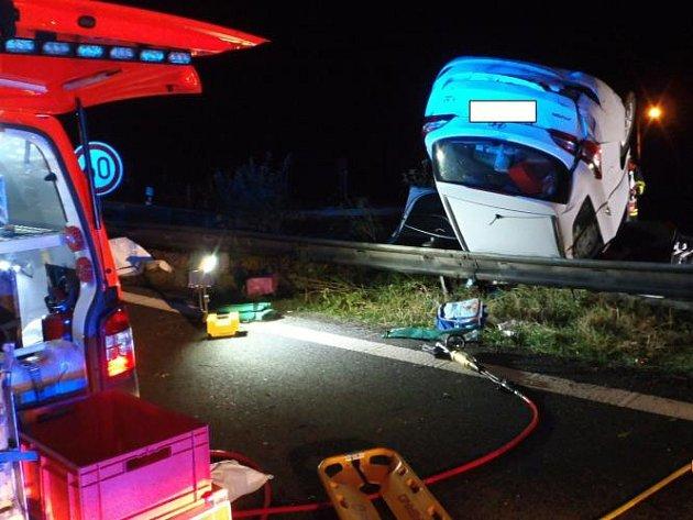 Dopravní nehoda na dálnici D5.
