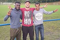 V prvním zápase Hořovicka pálili ostrými (zleva) Musa Ansuma, Jan Modl a Daniel Klimeš. Rozmnoží si účet?