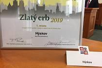 Obec Hýskov získala v soutěži první místo za nejlepší webové stránky obce.
