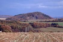 Pohled na Otmíčskou horu na Berounsku.