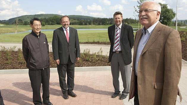 Berounský golfový areál navštívil prezident Václav Klaus