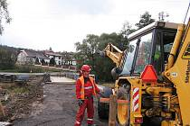 Oprava mostu v Oseku. Ilustrační foto