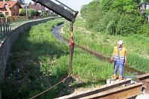 Oprava mostu u hořovického Společenského domu začala v červnu 2014, skončila v listopadu