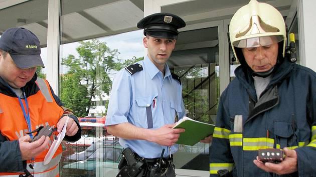 Podezření na únik plynu v berounské ulici