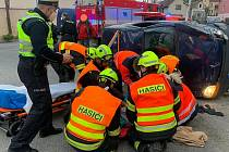 Nehoda u obce Chodouň 4. května 2021.