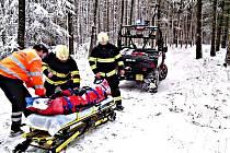 Záchrana zraněného na Vraní skále