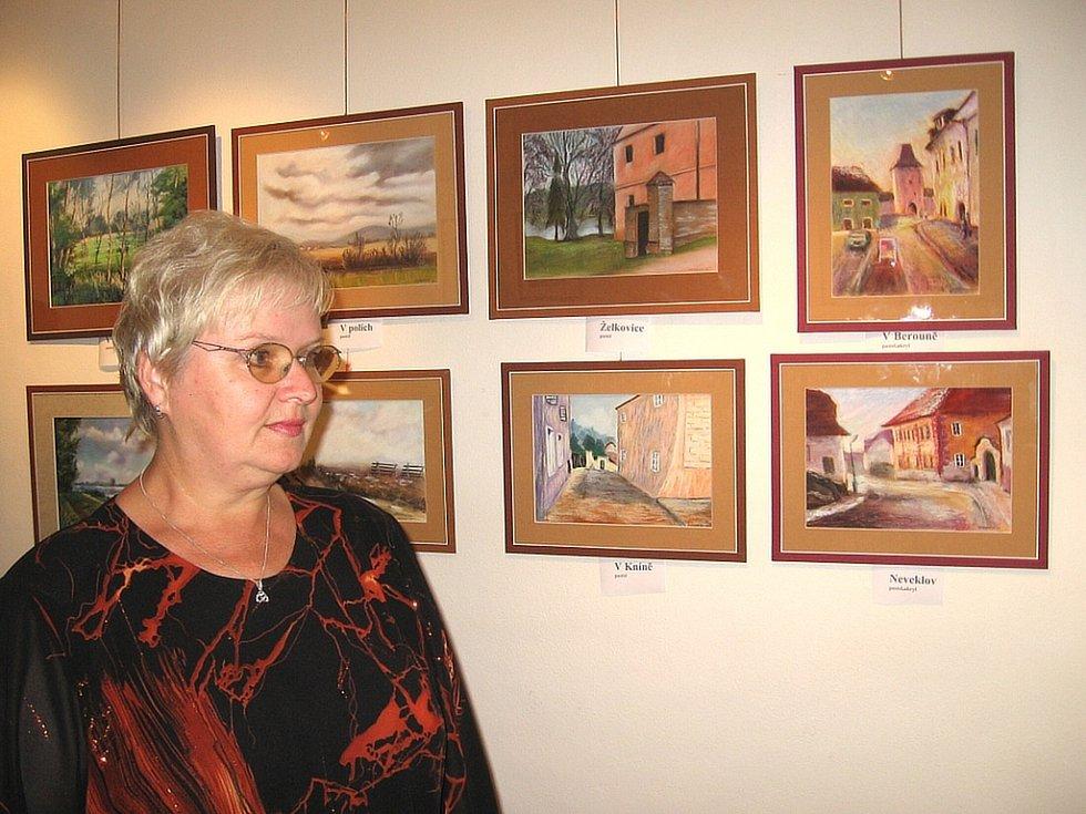 Začínající malířka Lenka Korberová maluje nejraději pastely.