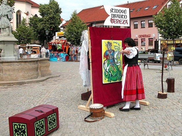 Pro děti hrálo Lidové divadlo Tereza.