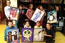 Dětské obrazy určené k výzdobě lůžkového oddělení v hořovické nemocnici.