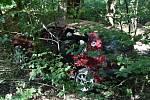 Mladíci havarovali v lese nedaleko Nižboru a Lán.