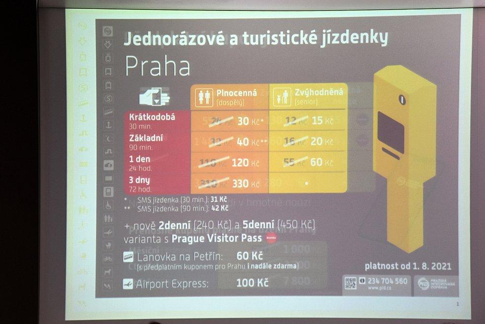 Zdražení jednotlivých jízdenek městské hromadné dopravy, což navazuje na změny cen jízdného ve Středočeském kraji, a další změny tarifu Pražské integrované dopravy na území hl. m. Prahy.