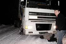 Kamiony blokují silnice na Berounsku
