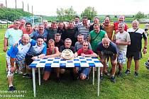 Při trubínských oslavách se bývalí i současní fotbalisté hodně bavili.
