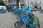 Spuštění projektu sdílených elektrokol na Husově náměstí v Berouně.